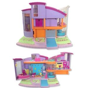 VTG 2000 Polly Pocket Magic Movin Clubhouse lights